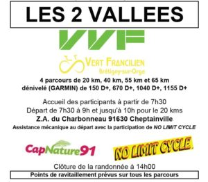 2 Vallées Vélo Vert Francilien