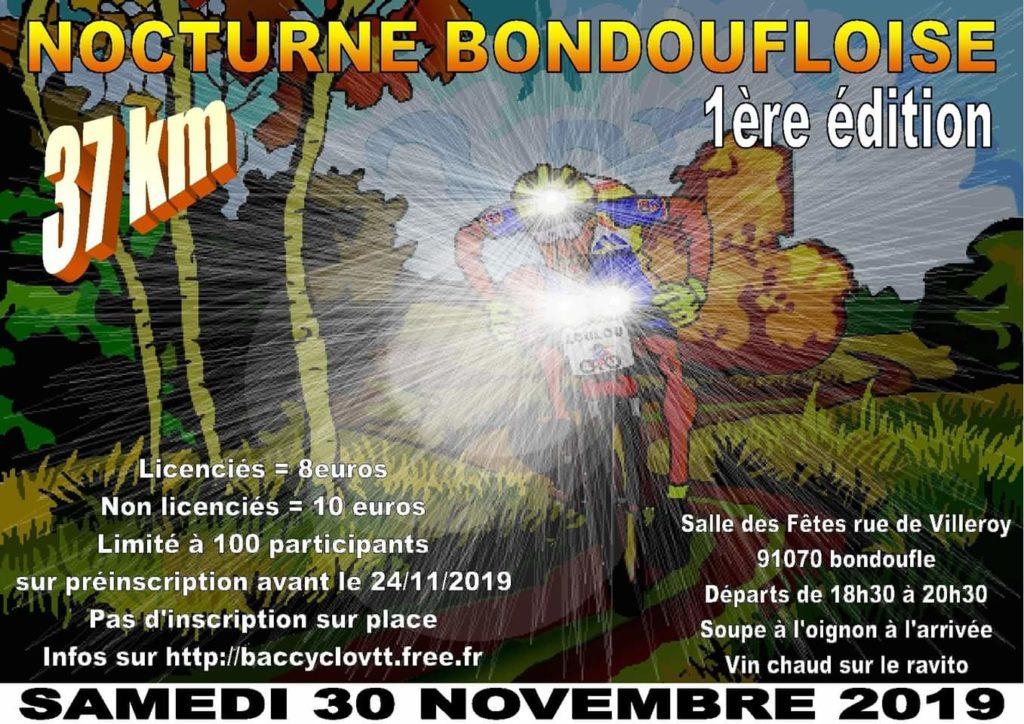 Randonnée vtt Nocture-Bondoufloise